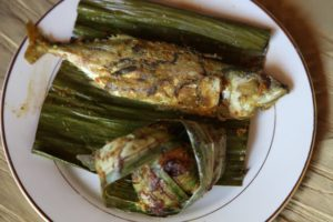 As was this fish cooked in a bamboo leaf