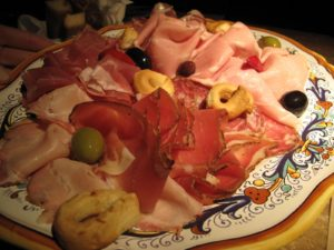 The salumeria platter - notice the amazing assortment of meats