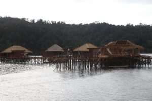 Construction of new lodges is underway - The over water villas are architecturally designed to enhance the sounds of the surf below.