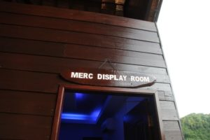 Following the presentation, we visited the MERC display room.