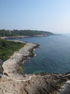 The rocky Côte d'Azur