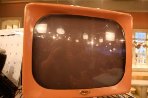 An old black and white tube TV - I still think that black and white televisions have their own charm.