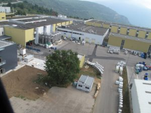 The factory in Grasse, where the highly automated fragrance and flavor blending and encapsulating activities occur.