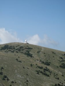 Barren mountain tops
