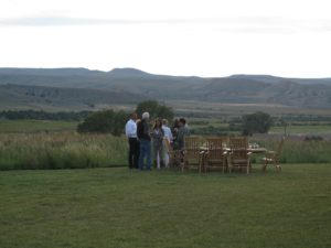 A table al fresco - overlooking Snowcrest Ranch
