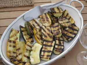 Beautifully grilled squash