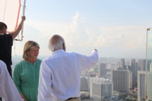 Moshe Safdie graciously showed me various points of interest in Singapore.