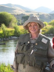 Mary Curran acted as my makeup and hair stylist and also as my personal portraitist!  She took great photos, as did Kevin Sharkey and Jill Dienst.  I have used some of their photos in these blogs!  Here I am ready to catch some trout!
