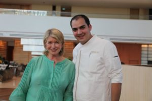 Here I am with pastry chef Alejandro Luna.