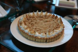 A beautiful tart with meringue edging from the pastry shop