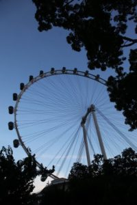 Another view of the Singapore Flyer