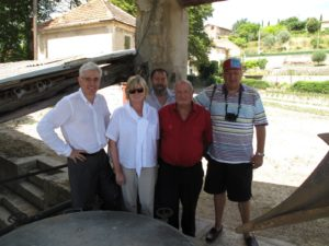 Michel Mane, me, two of the lavender producers - Mr Cervera and Mr Paul, and Jean Pigozzi
