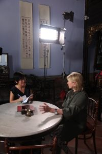 Before our TV shoot, I sat for an interview with Ms. Huang Lijie from the Straits Times.