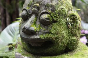 We loved all the mossy sculptures throughout the gardens.
