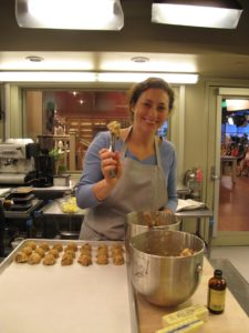 Nora Singley - TV Chef - prepping 'Everything but the Kitchen Sink' cookies.  The recipe is on my Web site.