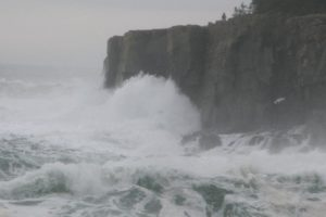 The tremendous churning of the waves creates a pounding roar against the cliffs - an amazing way to start the day!