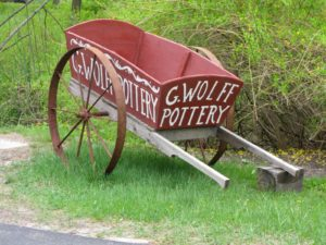 This charming wagon is at the entrance to Guy's driveway.