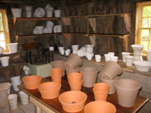 Ben also displays his pots in Guy's shop.  Ben is known for using a wide selection of clays, glazes, and finishes to achieve his signature look.