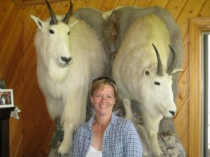 Mary Ann loved these long-horned goats.