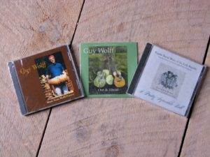 An accomplished musician, Guy also sells his music CD's in the shop.