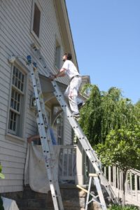 Meanwhile, the painters are sprucing up every building with a coat of stain.