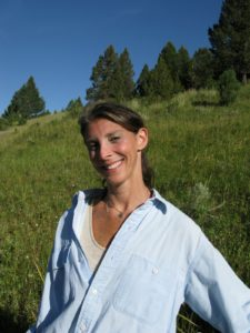 Jill Dienst, who joined us for the trip, looked happy and healthy in the mountain air.