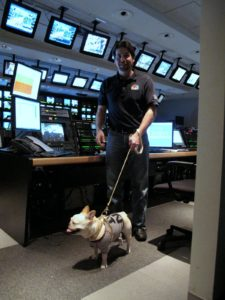 The Frenchies are always so inquisitive about electronics, and this state-of-the art control room was no exception.