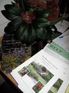 At the door, there was a sign-in table with information regarding The Native Plant Center.