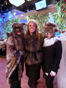 My makeup artist Mary Curran (middle) with a couple of other wild things.