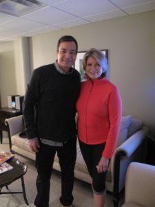 Here I am backstage with Jimmy Fallon.