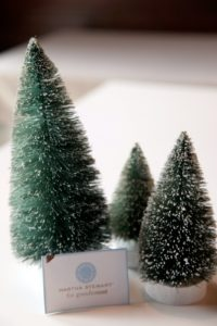 Festive mini alpine trees