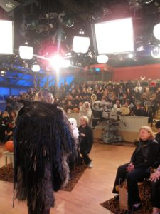 Here I am talking to the audience after the show.