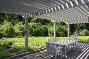 This is the shade pergola for spectators.
