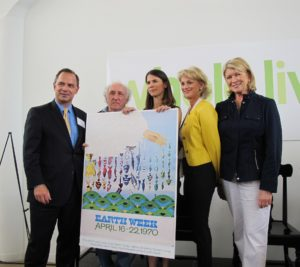 Here I am with judges Adrian Benepe - Commissioner NYC Parks Department, Marty Carey - artist and creator of one of the original Earth Day Posters holding his poster, Alex Postman - editor-in-chief Body+Soul magazine (soon to be Whole Living Magazine) and    Lisa Belsberg - President of PENCIL
