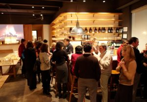 At 6PM sharp, guests began to arrive.  This is the bar area of the restaurant.