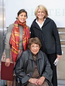 Here I am with my beloved late mother and my niece Sophie at the ground- breaking for the Center for Living in 2006.