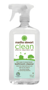 Bathroom cleaner removes soap build-up and dirt and it's safe for all surfaces