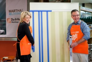 On Thursday, April 15, I led the Do-it-Herself meeting workshop, featuring Martha Stewart Living paint, at the Home Depot store on 23rd street in Manhattan.  Tom Eberharter, the Director of Design & Fabrication at our company, joined me for the workshop.