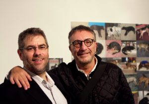 Mitch Mondello and Alberto Mazzeo in front of Mitchs' photo series - 'Cuidado con el Perro'