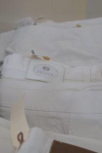White Escada trousers