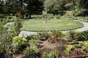 The formal sundial and fountain garden