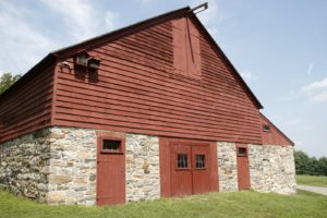 This wonderful building is the main barn, built around 1830.  Today, it is used for many special events.