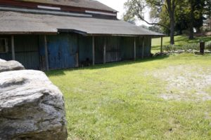 This is the carriage barn - it was used for housing horses and storing carriages and tack.