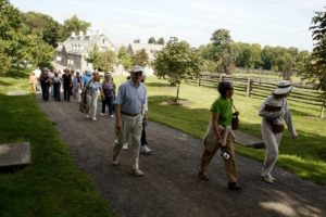 After walking through the stables, the group was directed up the carriage road.