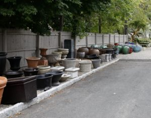 Mariani offers an impressive selection of aged clay pots, unique ceramic vessels, and flower boxes.