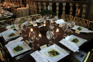 At last years gala the center pieces were all bonsai trees donated by Shanti Bithi nursery in Stamford, Connecticut.
