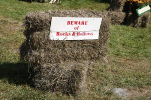 Beware of Rocks & Hollows - a nice way of saying 'walk carefully'