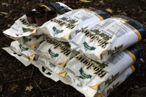 When planting trees, we like to use this organic Bio-tone Starter fertilizer to help promote root growth.