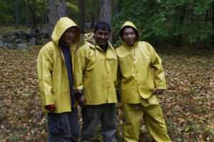 This is some of my grounds crew.  These strong, hard workers are Sherpas from Nepal - Mingmar, Pete, and Phurba.