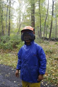 Chhiring knows the importance of wearing proper safety equipment.